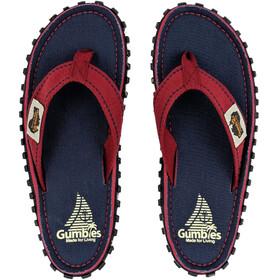 GUMBIES Islander Sandalen rood/blauw